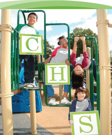 Kids having fun playing on playground equipment at one of the after school programs.