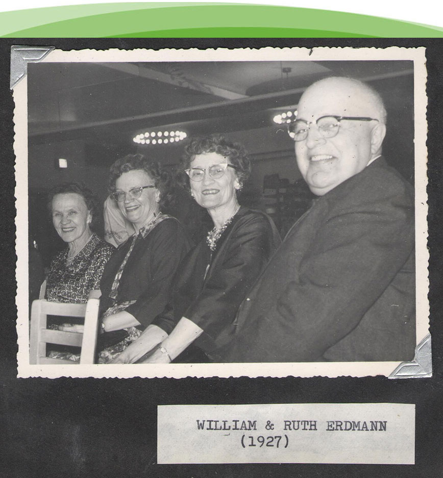 A picture of William & Ruth Erdmann at a Chicago Hearing Society Event from 1927.